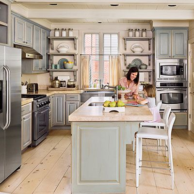 Kitchen Inspiration: L-Shaped Kitchen < Kitchen Layouts and Essential Spaces - Southern Living