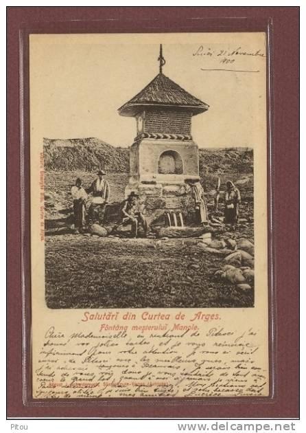 Curtea de Arges - Fantana Mesterului Manole - 1900