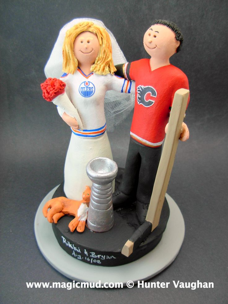 Edmonton Oilers vs Calgary Flames Wedding Cake Topper www.magicmud.com 1 800 231 9814 mailto:magicmud@m... $235 twitter.com/... www.facebook.com/... #wedding #cake #toppers #custom #personalized #Groom #bride #anniversary #birthday#weddingcaketoppers#cake-toppers#figurine#gift#wedding-cake-toppers #hockey#NHL#hockeyPlayer#stanleyCup#goalie