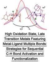 High Oxidation State, Late Transition Metals Featuring Metal-Ligand Multiple Bonds: Strategies for Sequential C-H Bond Activation and Functionalization