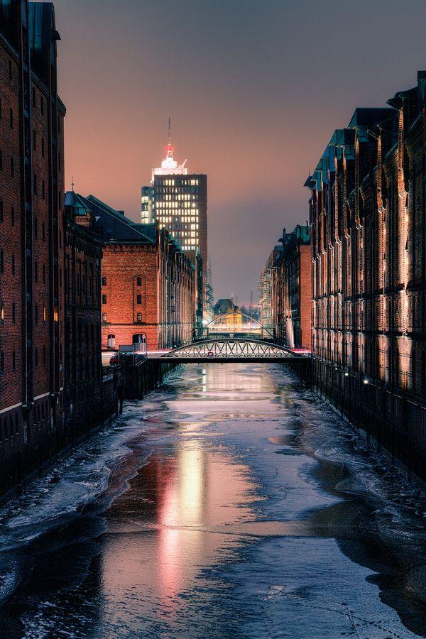 Frosty Hamburg, Germany