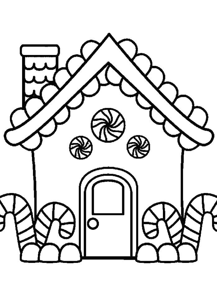 House Coloring Pages For Preschoolers Free Below Is A Collection Of House Christmas Coloring Sheets Free Christmas Coloring Pages Gingerbread Man Coloring Page