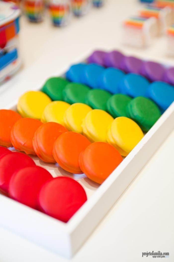 Rainbow Party with So Many Cute ideas via Kara's Party Ideas…