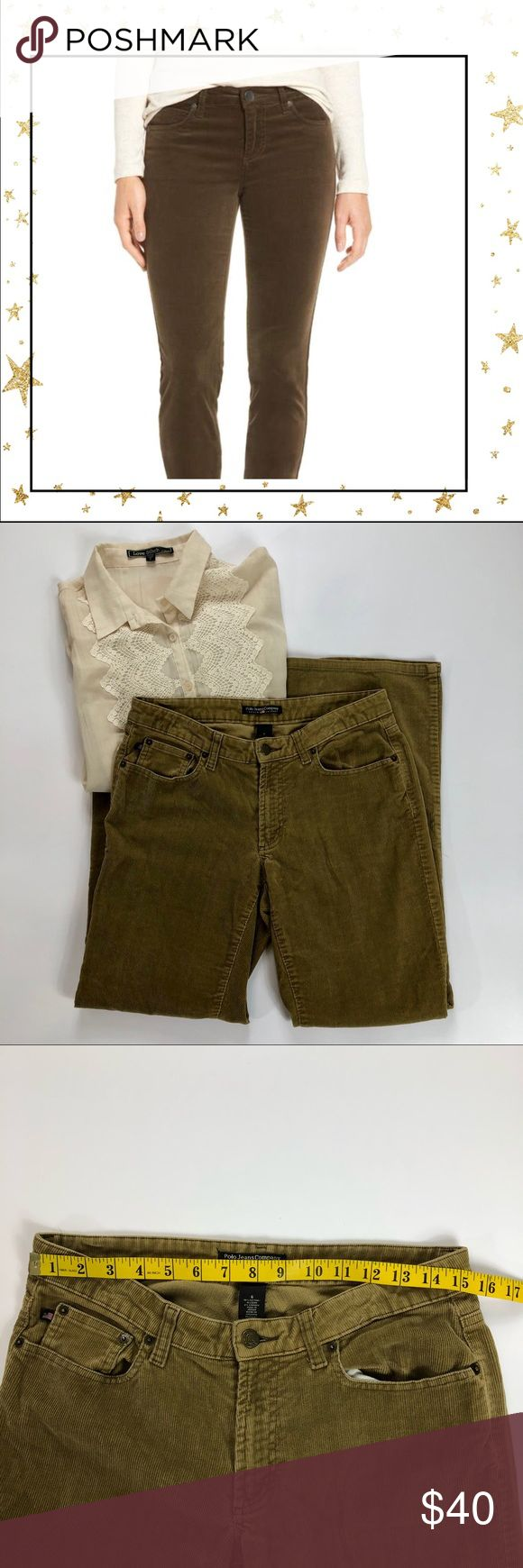 Polo Jeans Co R.Lauren Olive Green corduroy pants First picture is for references only. Olive green, corduroy, cotton pants. Good condition. Polo Jeans Co by  Ralph Lauren Pants Boot Cut & Flare