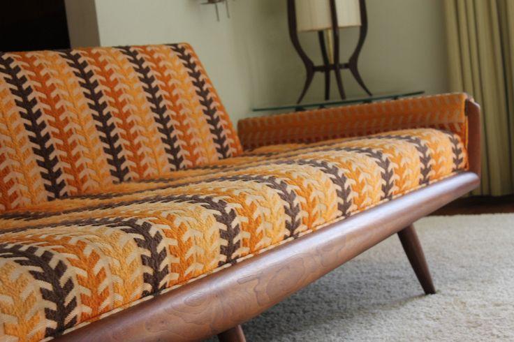Mid Century Adrian Pearsall Craft Associates Sofa Danish Modern Couch | eBay