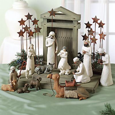 I love the nativity scene. Reminder of the REAL celebration of CHRISTmas!