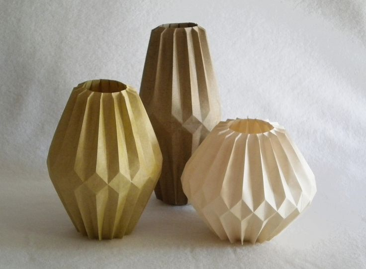 Three diamond vases | Each is folded from one rectangle of E… | Flickr