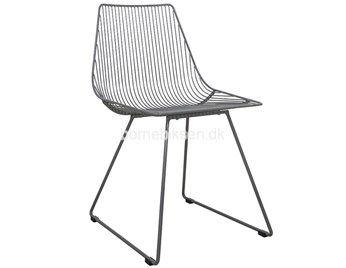 Sebra I-Sit metalstol, grå
