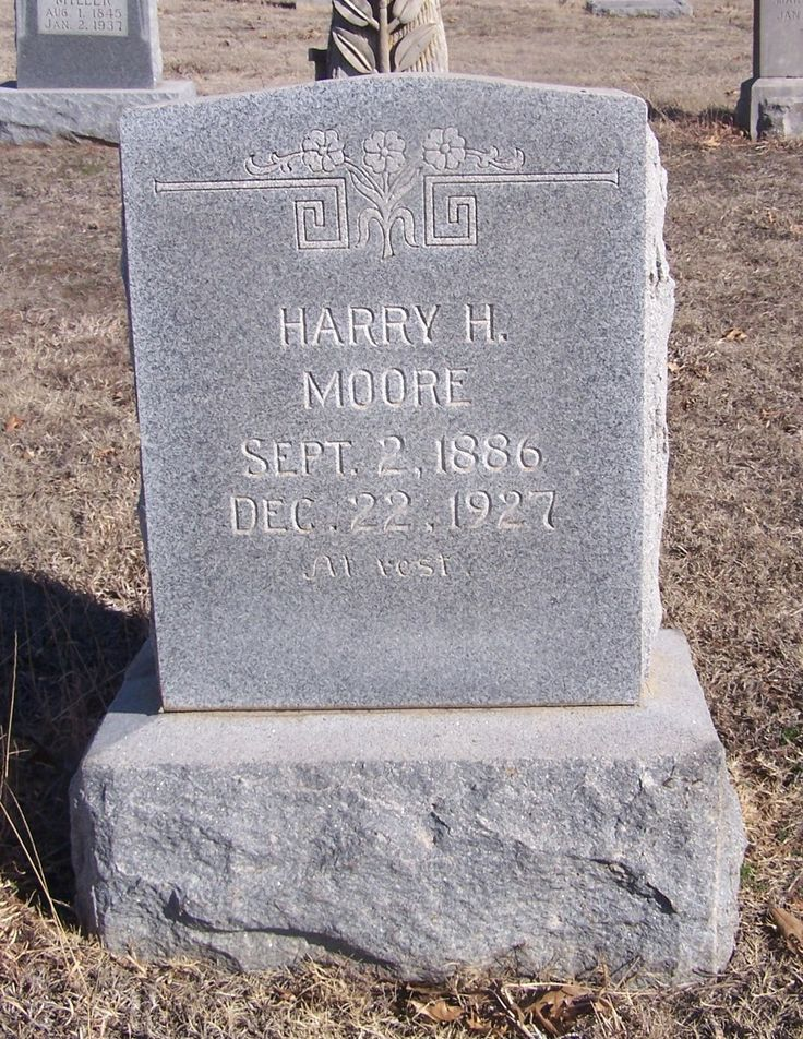 "Harry Hill ""Bud"" Moore (1886 - 1927) - Find A Grave Memorial"