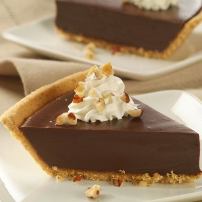 No Bake Chocolate Satin Pie - SO EASY, CHEAP and DELICIOUS!