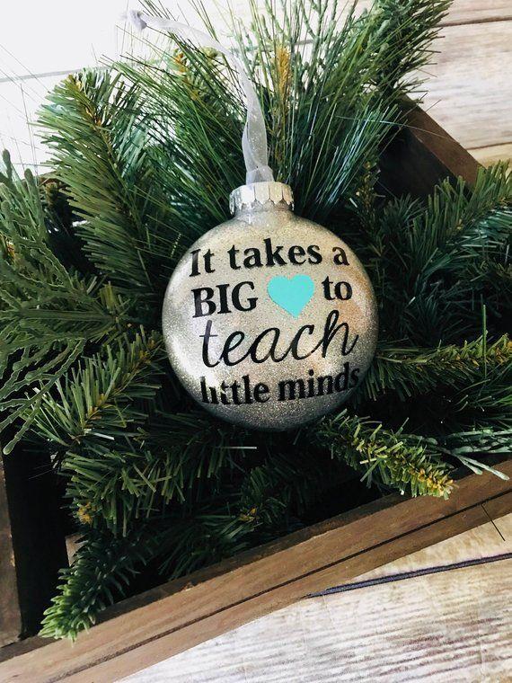 Teacher Ornament Gift For Teacher Teacher Gift Christmas Ornament Christmas Gift For Teacher Christmas Gift Pto Pinterest Teacher Gifts