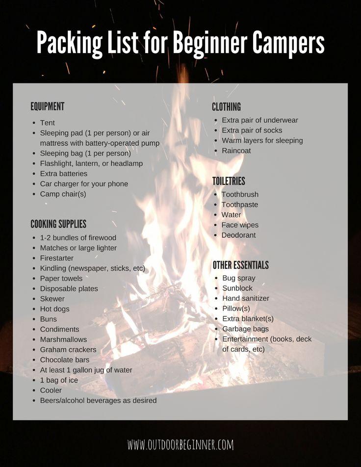 Πάνω από 25 κορυφαίες ιδέες για Camping packing lists στο - packing list template