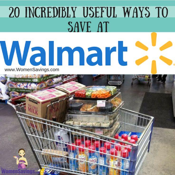 20 ways to save and shop at walmart