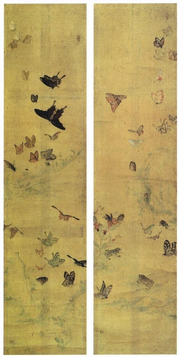 이교익 화접도 flowers and butterflies, Yee Gio Ik, korean painter