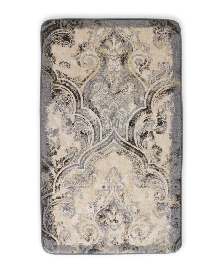 Laura Ashley Taupe Daventry Memory Foam Accent Rug