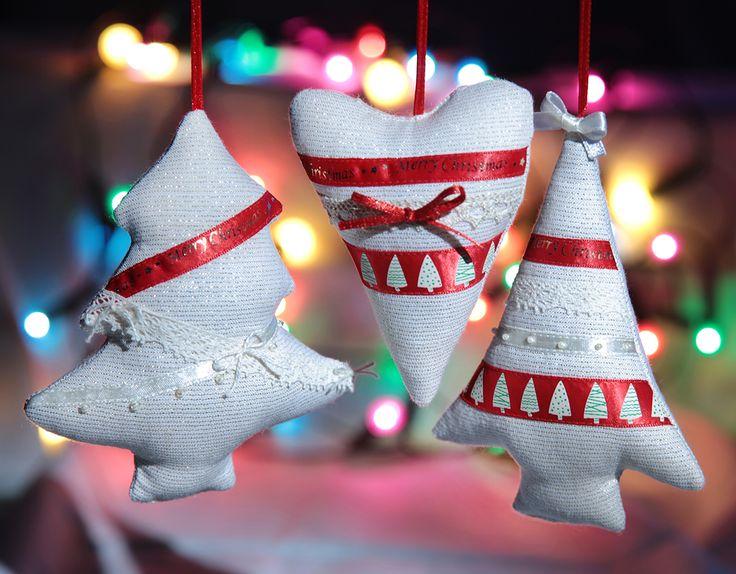 ...bombki szyte ręcznie...ozdoby na choinkę...Boże Narodzenie...rękodzieło...Merry Christmas...handicraft...kunsthandwerk...baubles...