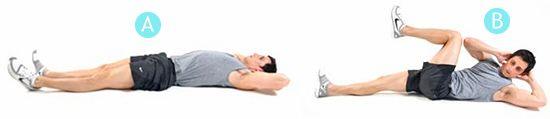Эффективное упражнения на пресс. Сэт 1.  В сочетании с последующими 3-мя из серии - отличное дополнения к жиросжигающей кардио тренировке.