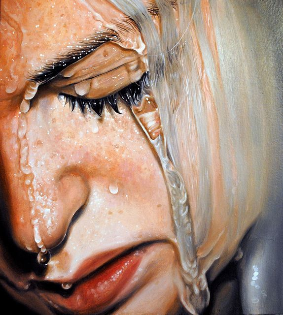 Linnea Strid,  Tear Me Apart,  Oil on plywood, I love how she paints water, amazing!