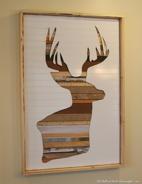 DIY deer wall art! But oh the possibilities for other art
