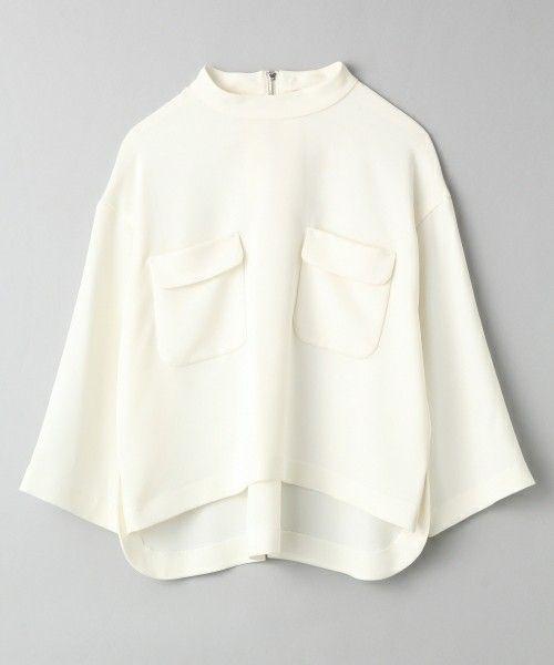 JEANASIS(ジーナシス)のロールネックWポケシャツ/713721(シャツ/ブラウス)|オフホワイト