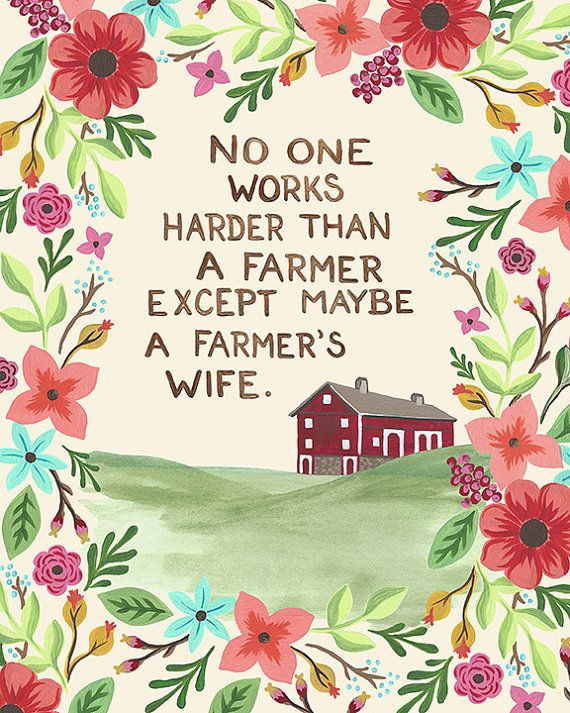 Farmer's Wife-vertical print on fine art paper on Etsy, $8.00