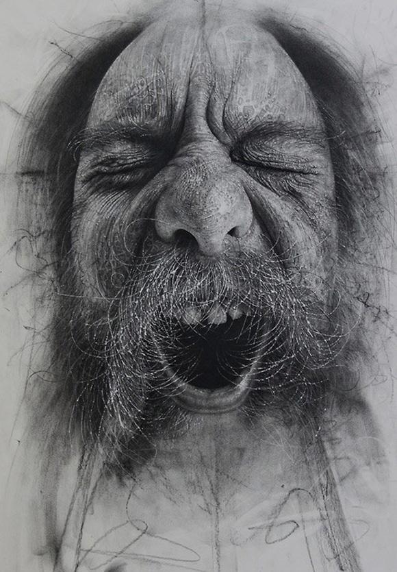 Dibujo hiperrealista de Douglas McDougall