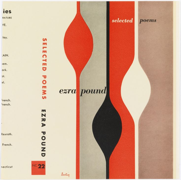 "Book Cover by Alvin Lustig, ""Selected Poems by Ezra Pound"", 1948"