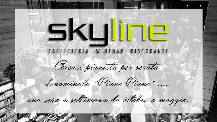 """Skyline Caffè cerca pianista per serata denominata """"Piano Piano"""" ...........una sera a settimana da ottobre a maggio.  #skyline   #skylinecaffe   #rimini   #barrimini   #ristoranterimini   #pianistarimini   #cercasipianista   #cercasipianistarimini"""
