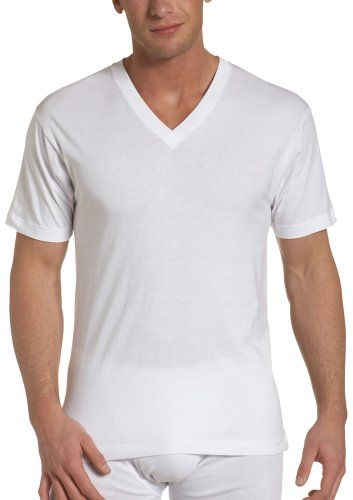 Dockers Men's 4 Pack V-Neck T-Shirt (and that dude has some package)