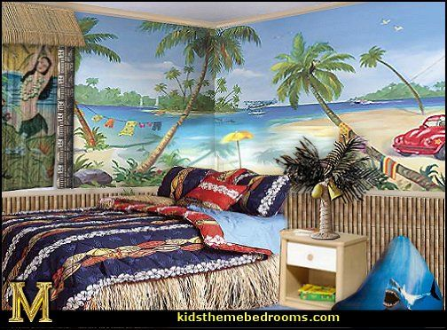 10 best tropical beach bedroom decorating ideas images on for Hawaiian themed bedroom designs