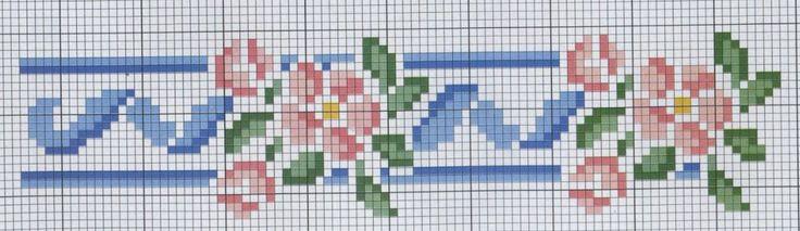 Enxoval Ponto Cruz by Núbia Cortinhas: Flores, flores e mais flores