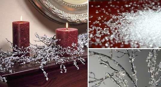 Πώς να φτιάξετε «Διαμαντένια» Χριστουγεννιάτικα Κλαδιά  #DIY