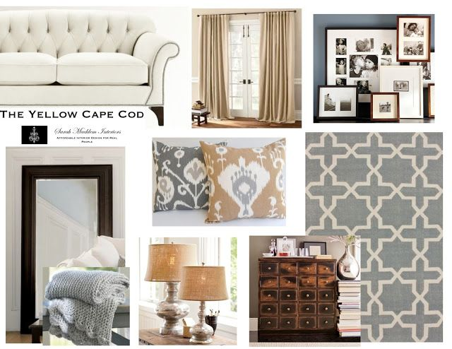 The Yellow Cape Cod: Three Rooms, One Design~Designing An Open Concept Home