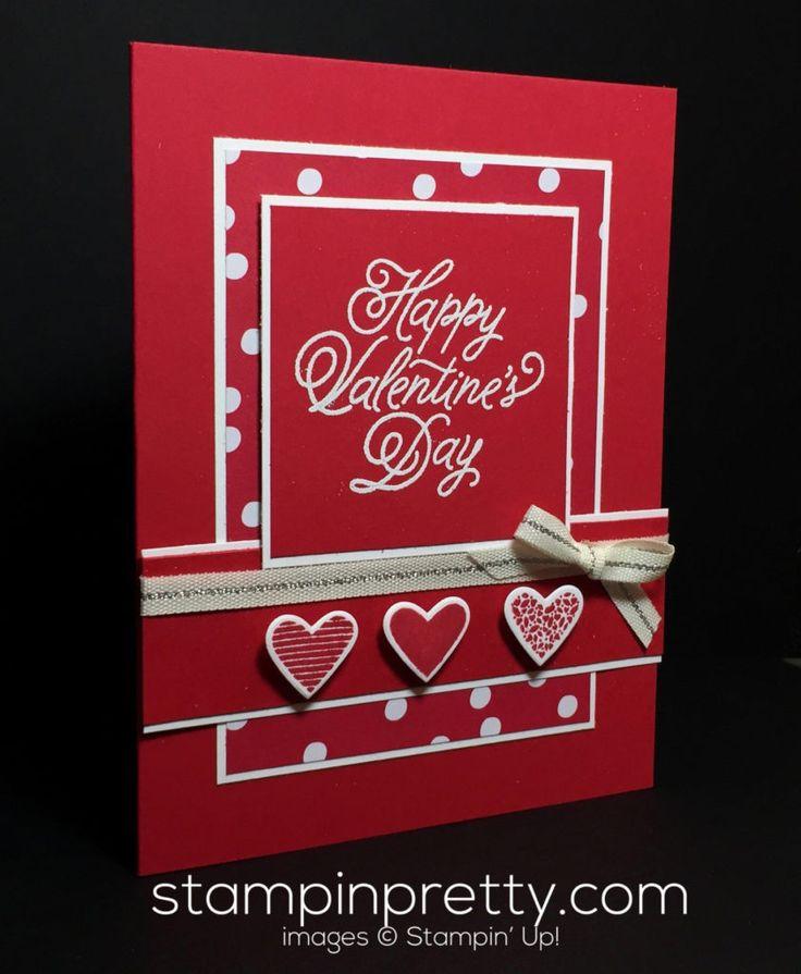 1046 best Stampin Up Valentine Hearts Love images on – Valentine Card Image