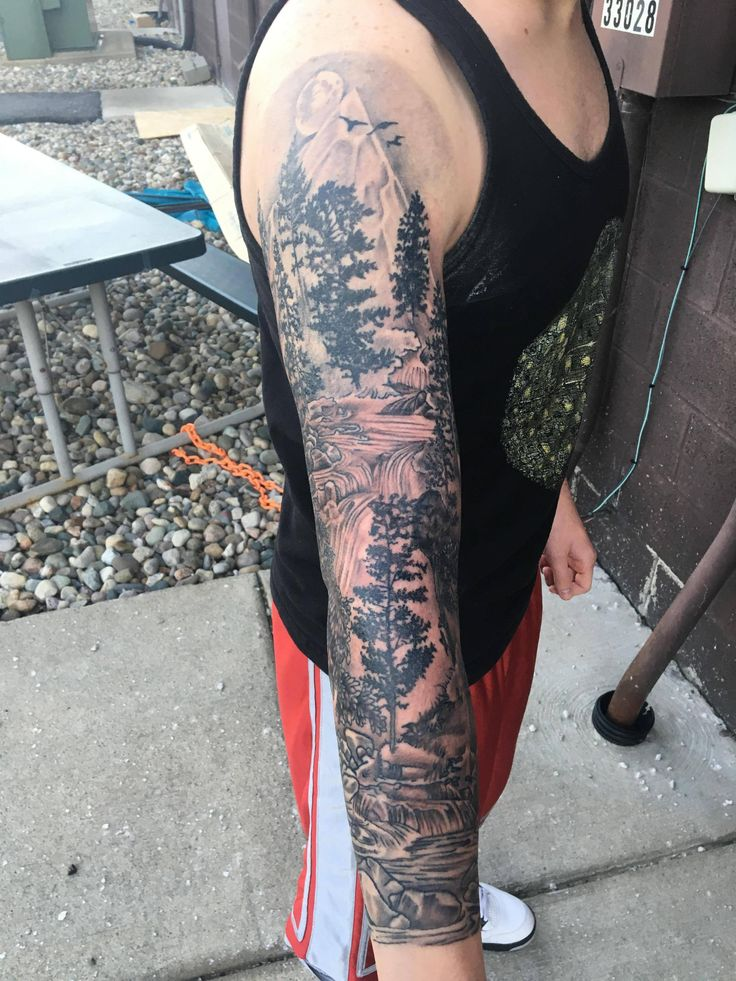 Sleeve tattoo forest