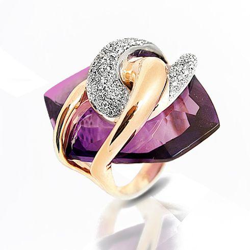Inel din aur cu ametist B962