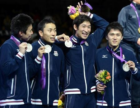 Fencing silver medal
