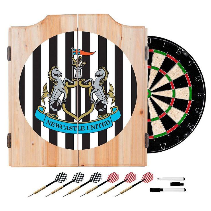 Newcastle United FC Cabinet Dart Board Set, Black
