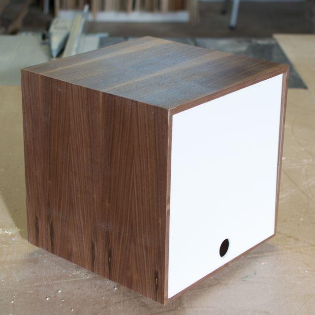 storage cube great for vinyl lps u0026 book storage in white walnut