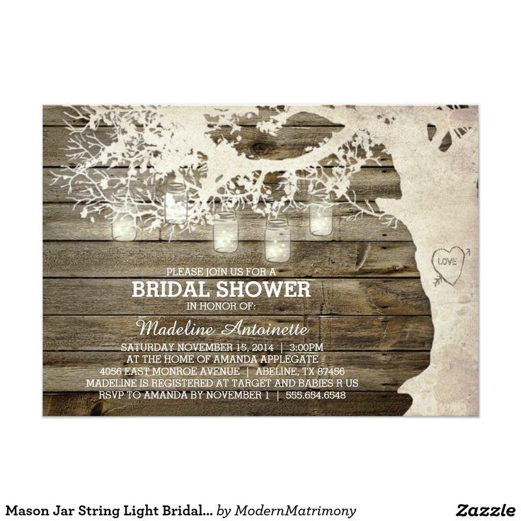 Mason Jar String Light Bridal Shower Barn