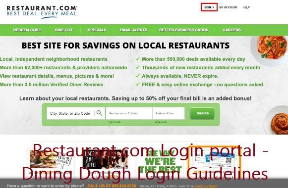 Restaurant Com Login Portal Dining Dough Login Guidelines Portal Guidelines Correspondence Letter