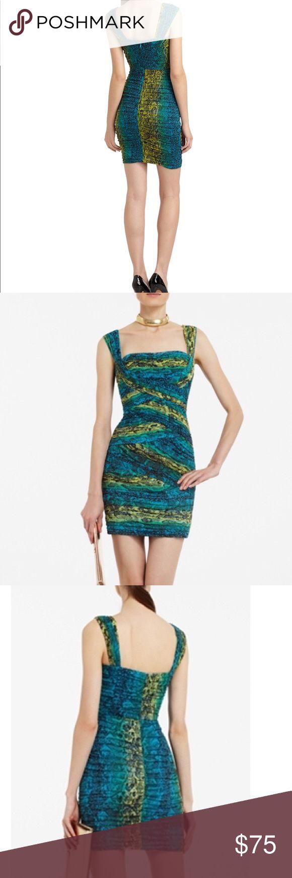 Bcbg snake print maxi dress