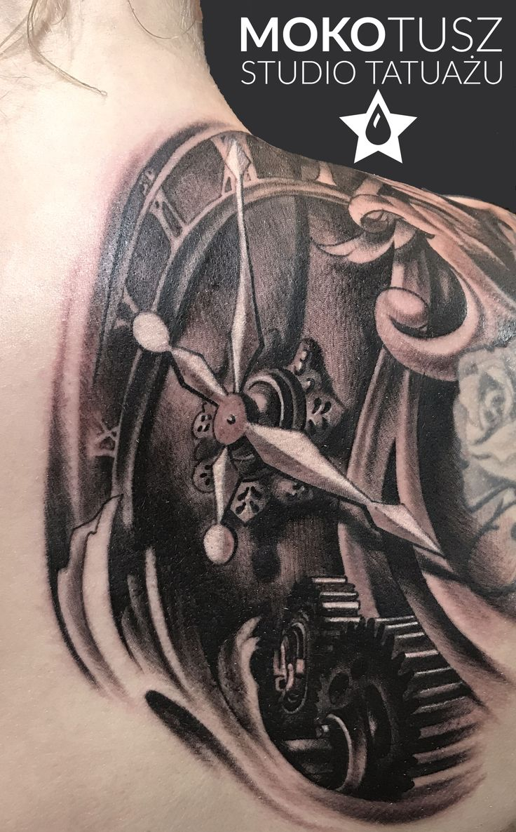 Clock Tattoo, one session.  #clocktattoo #clockmachinetattoo #clockmachine #tattoodesign #tattooedgirl #tattoo #warsaw #mokotusz