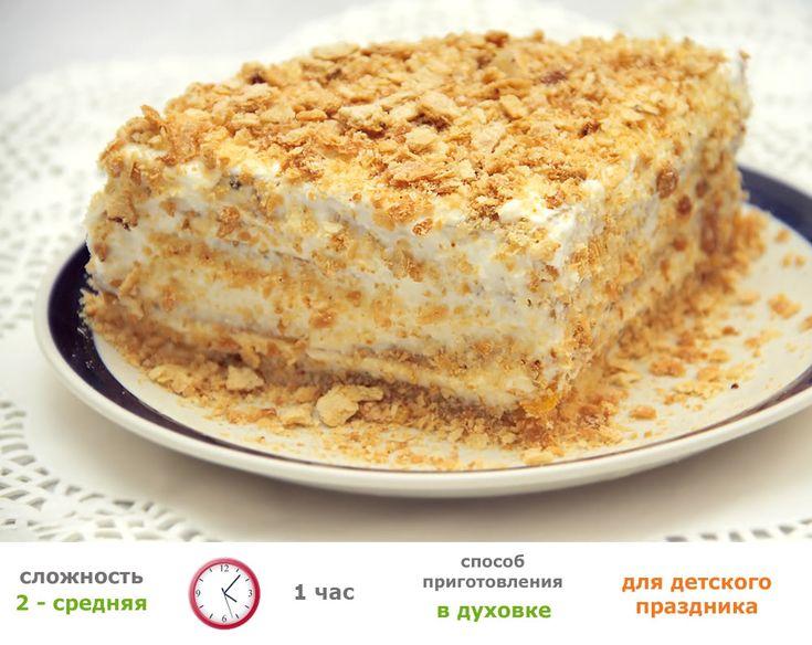 Рецепты для малышей - Детский торт (первый День Рождения) - без яиц