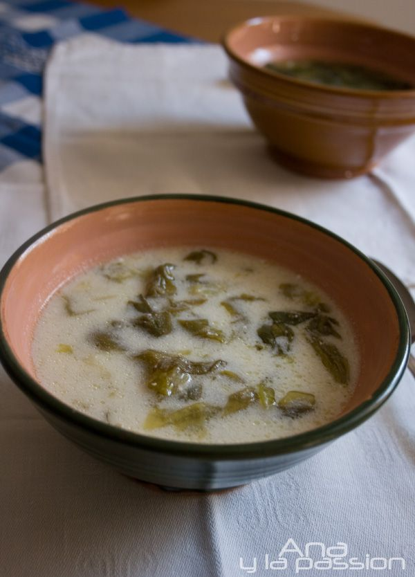 Lettuce soup Traditional Hungarian soup from fresh lettuce leaves by Ana y la passion