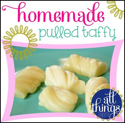 Homemade Pulled Taffy Recipe, FUN to do with kids!