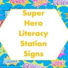 11 full size signs  ABC, poetry, independent reading, buddy reading, computer, writing, reading, word work, listening station, classroom and school ...