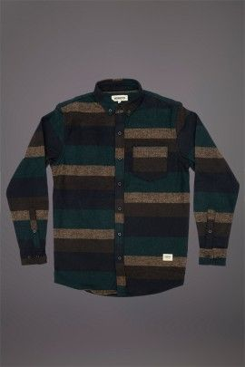 WEMOTO OHNO SHIRT DARK NAVY  WEMOTO A/W 14. Cotton polyester mix shirt.  http://www.abandonshipapparel.com/product/wemoto-ohno-shirt-dark-navy/