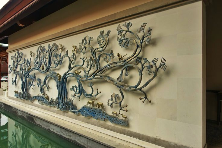 The wall ornaments at the lobby of Padma Ubud. #MilesHumphreysArchitect