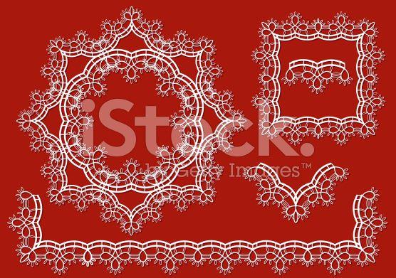 Lace border royalty-free stock vector art